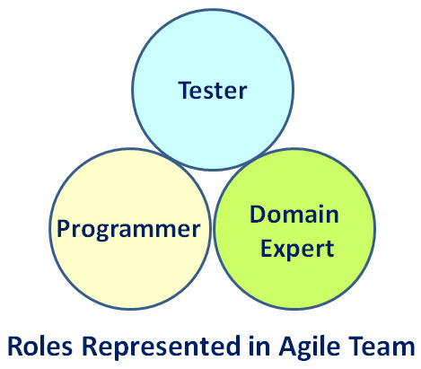An agile team is principally represented by three roles